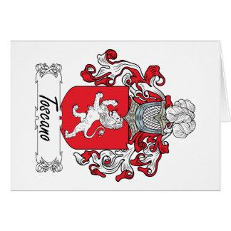 Escudo de la familia de Toscano Tarjeta De Felicitación