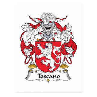 Escudo de la familia de Toscano Tarjeta Postal