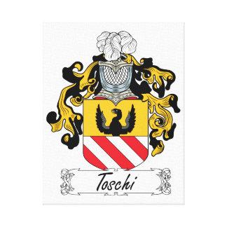 Escudo de la familia de Toschi Impresión En Tela