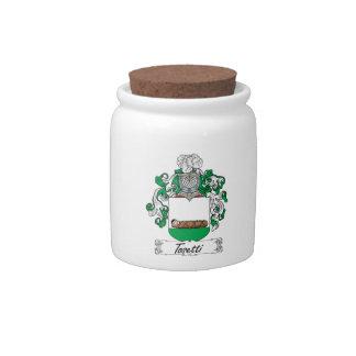 Escudo de la familia de Tosetti Jarra Para Caramelo