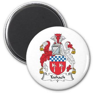 Escudo de la familia de Toshach Imán Redondo 5 Cm