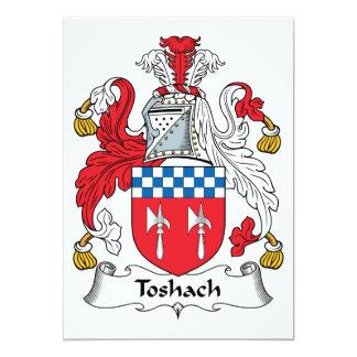 """Escudo de la familia de Toshach Invitación 5"""" X 7"""""""