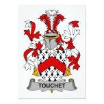 Escudo de la familia de Touchet Invitación 12,7 X 17,8 Cm