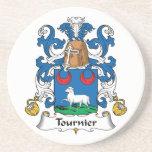 Escudo de la familia de Tournier Posavasos Diseño