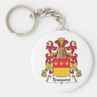 Escudo de la familia de Toussaint Llaveros Personalizados
