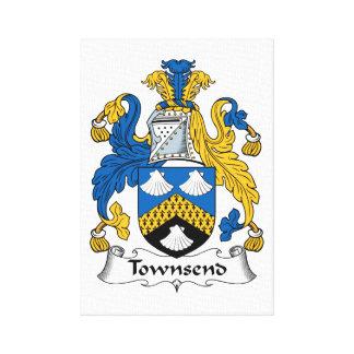 Escudo de la familia de Townsend Lona Estirada Galerias