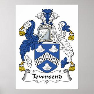 Escudo de la familia de Townsend Poster