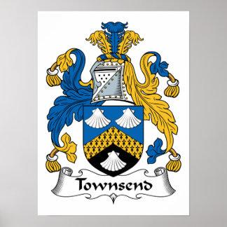 Escudo de la familia de Townsend Posters