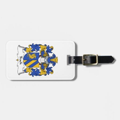 Escudo de la familia de Trach Etiquetas Bolsa