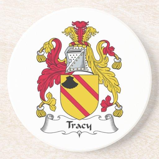 Escudo de la familia de Tracy Posavaso Para Bebida