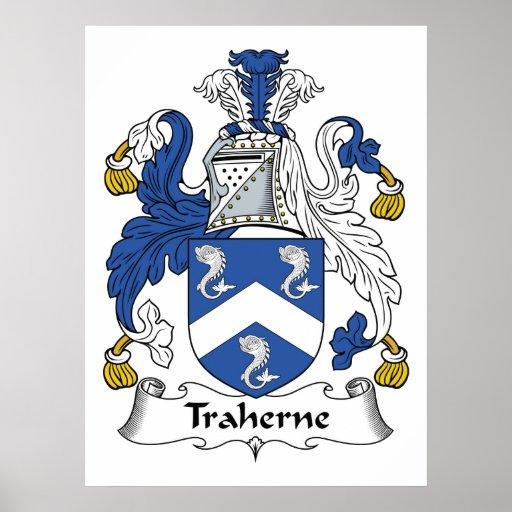Escudo de la familia de Traherne Póster