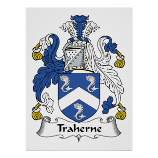 Escudo de la familia de Traherne Posters