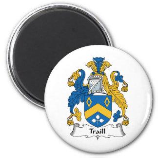 Escudo de la familia de Traill Imán Redondo 5 Cm