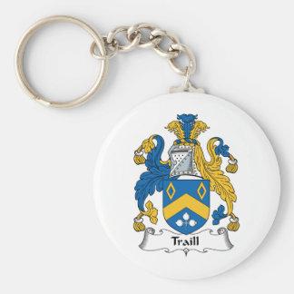 Escudo de la familia de Traill Llavero Redondo Tipo Pin