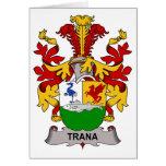 Escudo de la familia de Trana Felicitación