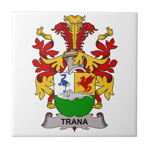 Escudo de la familia de Trana Teja Ceramica