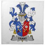 Escudo de la familia de Trant Servilletas