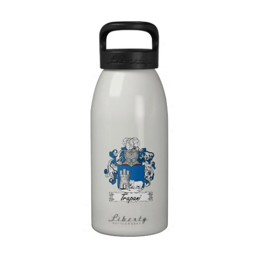 Escudo de la familia de Trapan Botella De Beber
