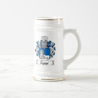 Escudo de la familia de Trapan Jarra De Cerveza