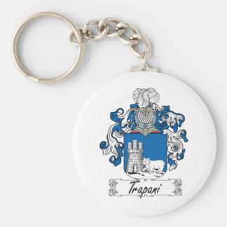Escudo de la familia de Trapan Llavero Redondo Tipo Pin