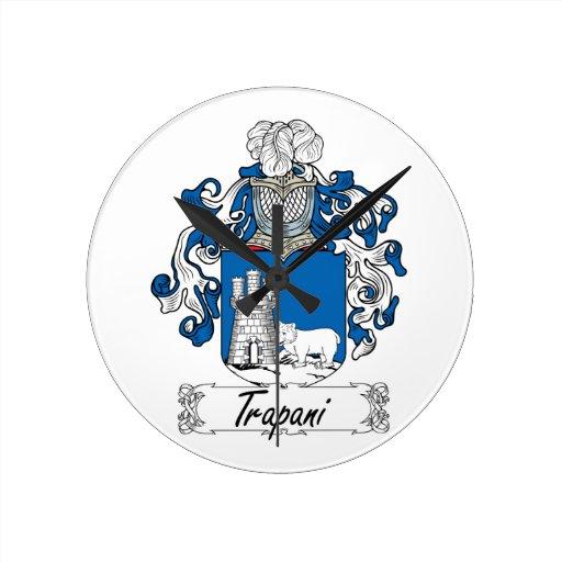 Escudo de la familia de Trapan Reloj