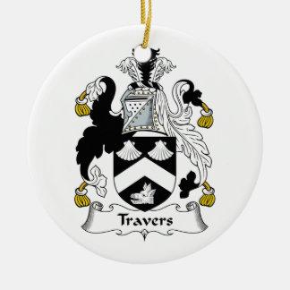 Escudo de la familia de Travers Ornamentos De Navidad