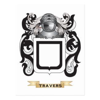 Escudo de la familia de Travers (escudo de armas) Tarjetas Postales