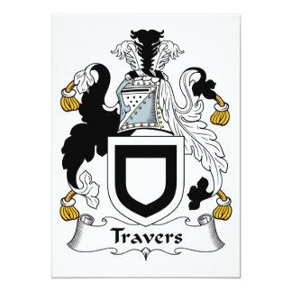 """Escudo de la familia de Travers Invitación 5"""" X 7"""""""