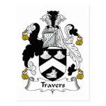Escudo de la familia de Travers Postal