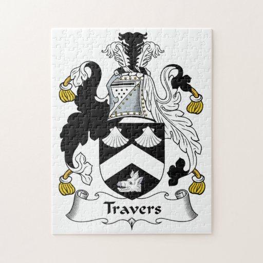 Escudo de la familia de Travers Puzzle