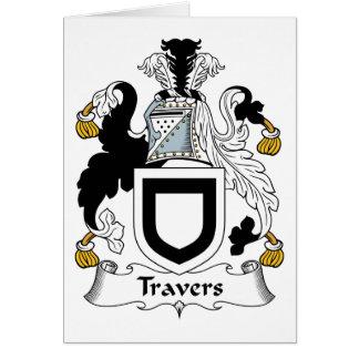 Escudo de la familia de Travers Tarjeta De Felicitación