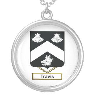 Escudo de la familia de Travis Colgante Redondo