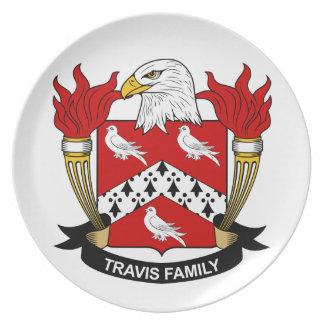 Escudo de la familia de Travis Plato Para Fiesta
