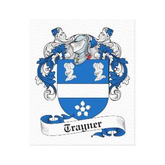 Escudo de la familia de Trayner Lona Envuelta Para Galerias