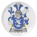 Escudo de la familia de Treacy Plato De Cena
