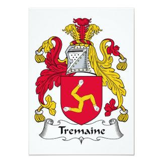 Escudo de la familia de Tremaine Invitación 12,7 X 17,8 Cm
