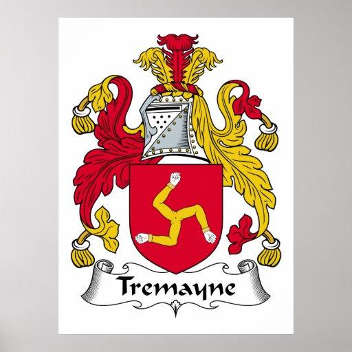 Escudo de la familia de Tremayne Posters