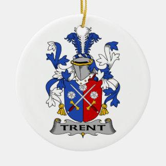 Escudo de la familia de Trent Ornamentos De Navidad