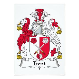 Escudo de la familia de Trent Invitación Personalizada