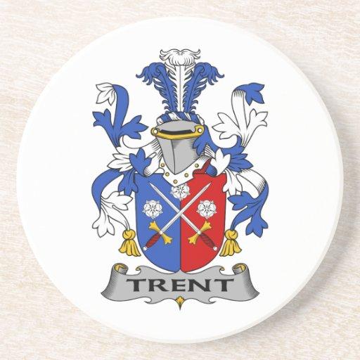 Escudo de la familia de Trent Posavasos Para Bebidas