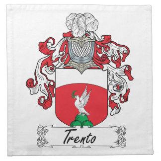 Escudo de la familia de Trento Servilletas Imprimidas