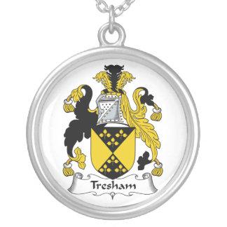 Escudo de la familia de Tresham Colgante Redondo
