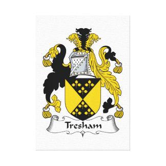 Escudo de la familia de Tresham Impresión En Lienzo Estirada
