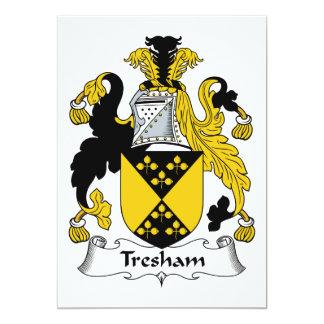 """Escudo de la familia de Tresham Invitación 5"""" X 7"""""""