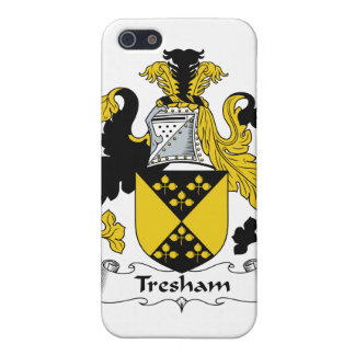 Escudo de la familia de Tresham iPhone 5 Carcasas