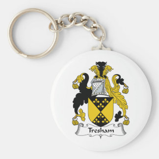 Escudo de la familia de Tresham Llavero Redondo Tipo Pin
