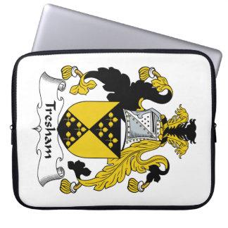 Escudo de la familia de Tresham Mangas Portátiles