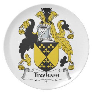 Escudo de la familia de Tresham Plato De Cena