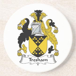 Escudo de la familia de Tresham Posavasos Cerveza