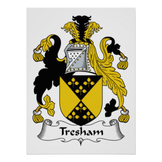 Escudo de la familia de Tresham Póster